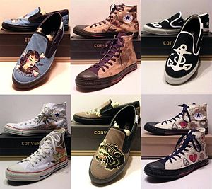 Sailor Jerry - A line of Converse shoes depicting some of Sailor Jerry's original tattoo artwork