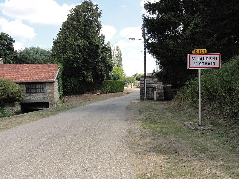 Saint-Laurent-sur-Othain (Meuse) city limit sign