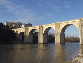 Saint-Nicolas-de-Campagnac bridge over the Gardon