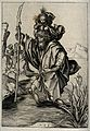 Saint Christopher. Line engraving by M. Schongauer. Wellcome V0031882.jpg
