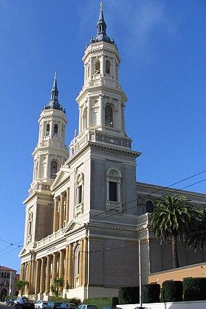 Saint Ignatius Church (San Francisco) - Side view of St. Ignatius Church