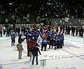 Saint John Sea Dogs celebrate 2011 Memorial Cup championship.jpg