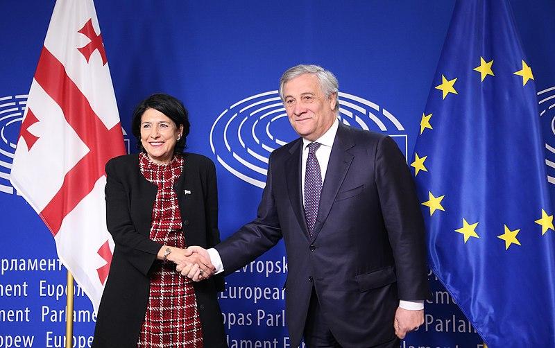 File:Salome Zourabichvili and Antonio Tajani.jpg