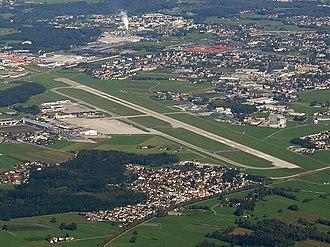 Salzburg Airport - Image: Salzburg Airport from the air
