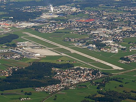 Salzburg Airport Salzburg Airport from the air.jpg