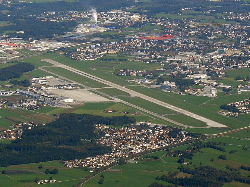Salzburg Airport from the air