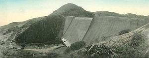 San Vicente Dam - San Vicente Dam in 1950