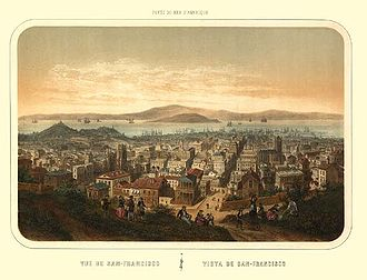 French Consulate General, San Francisco - The city of San Francisco in 1860