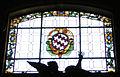 San marco, firenze, cappella salviati, vetrata con stemma salviati.JPG