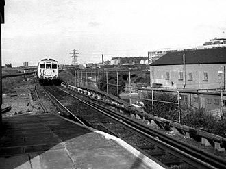 Liverpool, Ormskirk and Preston Railway - Approaching Sandhills from the north.