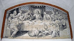 Nicolás Borrás - The Last Supper painted in fresco by Nicolás Borrás. Refectory of the Monastery of Sant Jeroni de Cotalba, XVI.