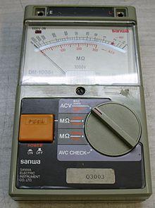 photograph of an ohmmeter