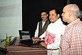 Sarbananda Sonowal launching the website, regarding the 12th South-Asian Games, to be held in Assam and Meghalaya on February 06-16, 2016, in Guwahati on October 27, 2015.jpg