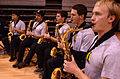 Saxaphones practice 'The Army Song' 130102-A-GX635-114.jpg