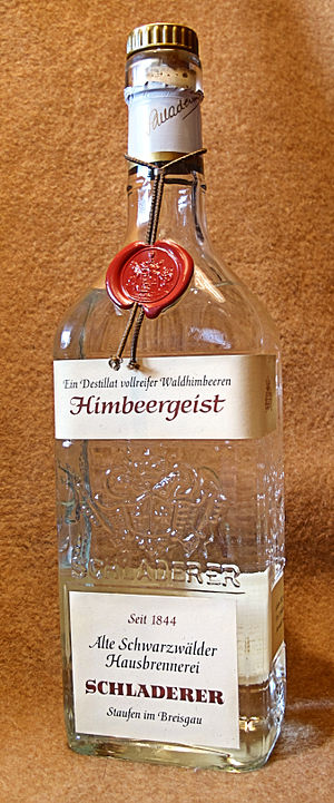 Himbeergeist - Himbeergeist made from wild raspberries in the Black Forest region of Germany