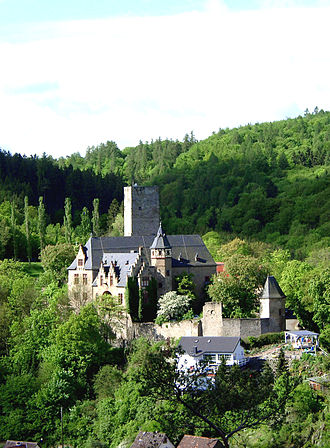 Adlerhorst - Kransberg Castle, behind which the Adlerhorst compound was built, and underneath which the bunker complex was constructed