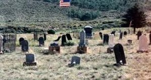 Scofield, Utah - Scofield Cemetery and some of its wooden gravestones