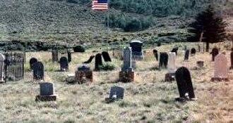 Scofield, Utah - Scofield Cemetery and some of its wooden gravestones