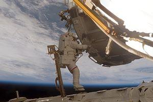 Scott E. Parazynski - Scott Parazynski during a spacewalk during STS-120.