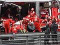 Scuderia Ferrari's box - 2016 Monaco F1 GP.jpg