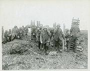 Second Battle of Passchendaele - Canadian Pioneers and German prisoners