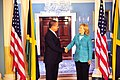 Secretary Clinton Shakes Hands With Jamaican Prime Minister Golding (5806038243).jpg