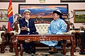 Secretary Kerry Participates in the Cultural Practice of a Snuff Exchange by Mongolian President Tsakhia Elbegdorj (26864124604).jpg