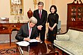 Secretary Kerry Signs the Appointment Papers for Sung Kim to Become the New U.S. Ambassador to the Philippines (30456012290).jpg