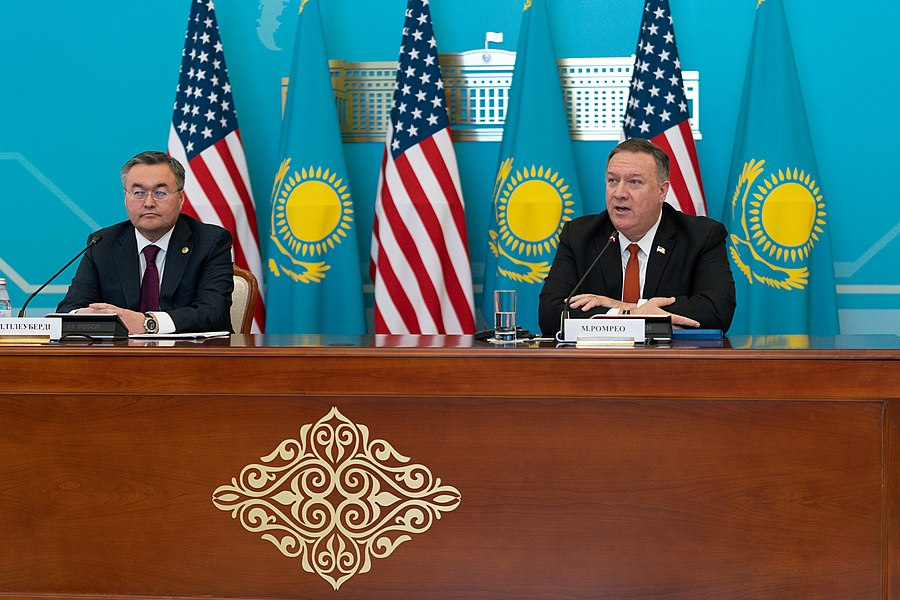 Secretary Pompeo Holds Press Conference With Foreign Minister Tileuberdi (49476368871).jpg