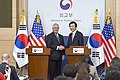 Secretary Tillerson and South Korean Foreign Minister Yun Pose for a Photo in Seoul (33104877930).jpg