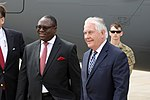 Secretary Tillerson is Greeted by Permanent Secretary Ambassador Bamgbose (40772256521).jpg