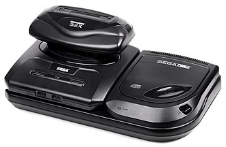 Sega CD - Sega-CD II with a Genesis II and a 32X attached. Each device requires its own power supply.