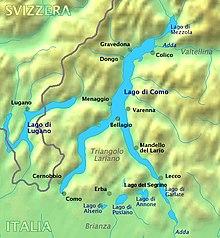 Cartina Lombardia Laghi.Triangolo Lariano Wikipedia