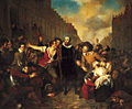 Self-sacrifice of mayor van der Werff painting by Wappers (1829).jpg