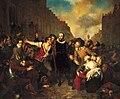 Self-sacrifice of mayor van der Werff painting by Wappers (1829).jpg