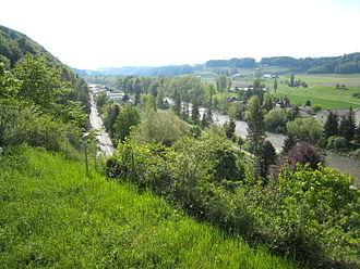 Laupen - Sense river at Laupen