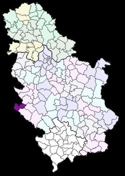 priboj mapa srbije Општина Прибој — Википедија, слободна енциклопедија priboj mapa srbije