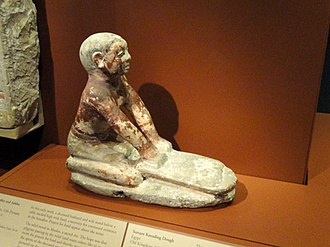 Dough - A statue of a servant kneading dough, from Egypt, Old Kingdom, 5th Dynasty, c. 2494–2345 BCE