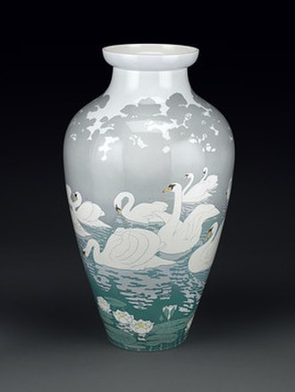 Exposition Universelle (1900) - Art Nouveau swan vase by Sèvres from 1900 Paris World's Fair