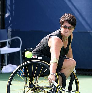 Sharon Walraven - Walraven competing at the 2011 US Open
