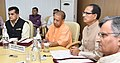 Shivraj Singh Chouhan, the Chief Minister of Uttar Pradesh, Yogi Adityanath and the CEO, NITI Aayog, Shri Amitabh Kant, at the First Meeting of CM's Subgroup on Convergence of MGNREGs & Agriculture Policies, in New Delhi.JPG