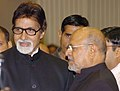 Shri Amitabh Bachchan, the Best Actor Award Winner – 2005, for the Hindi film BLACK with Shri Shyam Benegal, the Dadasaheb Phalke Award Winner-2005 at the 53rd National Film Awards function, in New Delhi.jpg