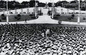 Phraya Manopakorn Nititada - Phraya Manopakorn Nititada addressing the crowd at Ananta Samakhom Throne Hall after the 1932 revolution.