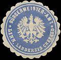 Siegelmarke Bürgermeister-Amt Linn Landkreis Krefeld W0382962.jpg