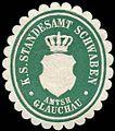Siegelmarke Königlich Sächsisches Standesamt Schwaben - Amtshauptmannschaft Glauchau W0252047.jpg