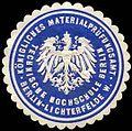Siegelmarke Königliches Materialprüfungsamt-Technische Hochschule Berlin W0296706.jpg