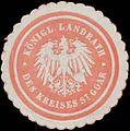 Siegelmarke K. Landrath des Kreises St. Goar W0386222.jpg