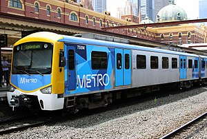 Siemens Nexas - Siemens Nexas at Flinders Street Station in Metro livery in December 2009