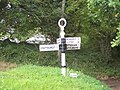 Signpost at crossroads north of Iping - geograph.org.uk - 57769.jpg