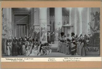 Simson och Delila, Kungliga teatern 1903. Föreställningsbild - SMV - H14 024.tif